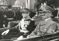 Adolf Hitler and Prince Regent Paul. Circa 1939.