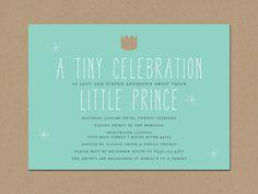 little prince baby shower invitation. $2.25, via Etsy.