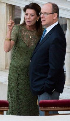 26. Mai 2016: brother and sister, Princess Caroline and Prince Albert of Monaco