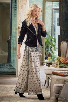 Yansima Skirt - Georgette Skirt, Embellished Maxi Skirt   Soft Surroundings