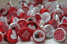 INSTANT DOWNLOAD Valentine Ladybug Love Bug Printable Valentine Party Favor Bag Toppers and Kisses