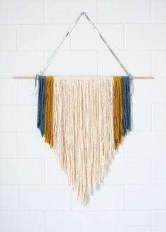 diy yarn wall art - Google Search