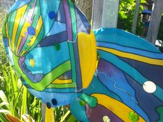 Hand painted silk mobiles from Caroline Cunningham