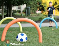 How to Make a Course Hoop Jump with Pool Noodles
