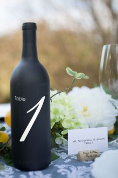 Wine bottle table numbers. Wine bottle decor. Wine bottle vinyl decal. Outdoor Wedding Inspiration, Invitation, Invites, Space Wedding, Idee Diy, Rustic Wedding, Fall Wedding, Wedding Reception, Autumn Weddings