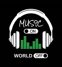 Music On, World Off Headphones Black Background by Color Me Happy – Musik Dj Music, Music Love, Listening To Music, Music Is Life, Music Backgrounds, Musica Black, Marshmello Wallpapers, Music Clipart, Bts Wallpaper