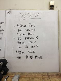 CrossFit WOD - Lip Gloss & Lunges