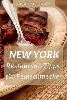 Usa Roadtrip, New York Restaurants, Tolle Hotels, Beste Hotels, Food, Gourmet, New York City Trip, Us Travel, Summer Vacations