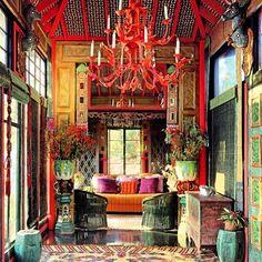 Tony Duquette design for garden folly interior