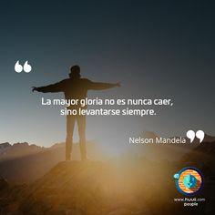 Frases de Motivacion Hay que levantarse siempre :) #Frases #Levantarse #Motivacion #Mandela #Lunes