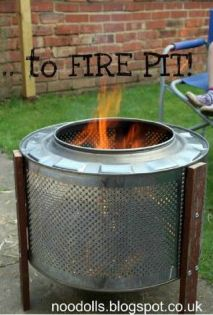 Tutorial: How To Upcycle Washing Machine Drum Into A DIY Fire Pit - Click the image for the Tutorial