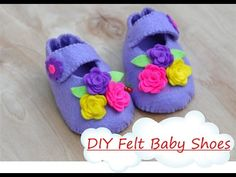 Easy DIY Felt Baby Shoes tutorial - YouTube