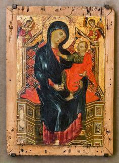 Deodato Orlandi: Madonna in trono con Bambino e due arcangeli [A 1290-1300, Lindenau Museum di Altenburg]
