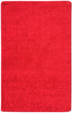 Luxury Red Solid Shag Area Rug