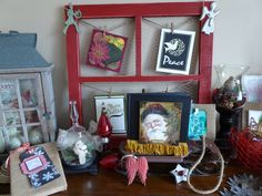 A few vintage Christmas items from Brush & Bolt. Retro Christmas, Christmas Items, Repurposed Items, Ladder Decor, Frame, Home Decor, Homemade Home Decor, Rustic Christmas, Interior Design