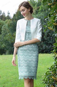 eDressit Elegant Knielang Kleid für die Brautmutter(26170904)