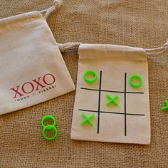 XOXO Tic Tac Toe Travel Game, Wedding or Party Favor. $8.95, via Etsy.