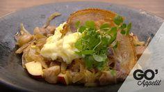 Brunkål med bacon kiks og kartoffel aioli