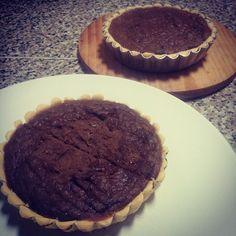 Tartelete de batata doce, #whey de chocolate e ovos Base- claras, farinha de arroz e amido de milho, oleo de coco  #tarte