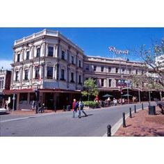 Cafe and Regent Theatre Octagon Dunedin New Zealand Canvas Art - David Wall DanitaDelimont (37 x 25)