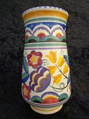 antique ceramics poole potteries vase