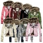 Women Lady Winter Warm Thicken Cotton Padded Coat Trench Fur Collar Jacket Coat