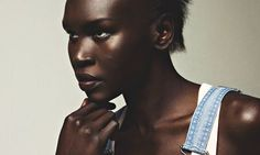 Alek Wek: 'There was no concept of fashion and catwalk shows where I came from.' Dungarees, £386, by Philosophy di Alberta Ferrett...