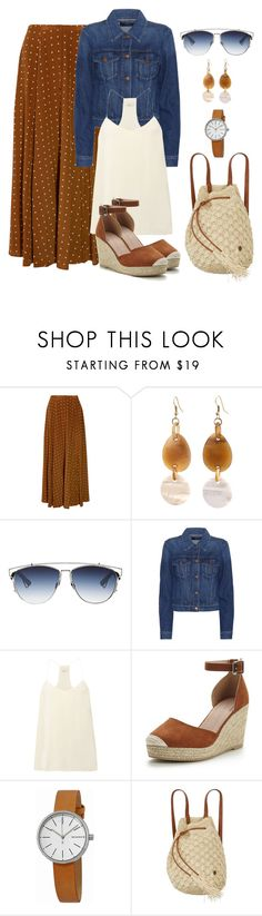 """Untitled #1417"" by gallant81 ❤ liked on Polyvore featuring Diane Von Furstenberg, Christian Dior, J Brand, TIBI, Skagen and Billabong"