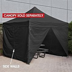 Side Walls for Instant Canopy - 10 x 10', Black H-2676BL