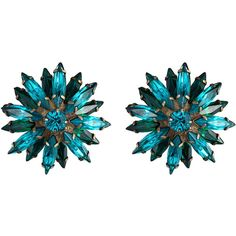 DANNIJO Esme Earrings ($295) ❤ liked on Polyvore featuring jewelry, earrings, accessories, blue, orecchini, dannijo jewelry, blue jewelry, dannijo earrings, party jewelry and brass jewelry
