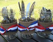 4th of July picnic silverware holders at The Rustic Raven on Etsy.