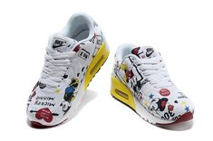 Nike Air Max 90 VT Hyperfuse Disney Mickey Mouse Running shoes for Kids white yellow_5.jpg (800×531)