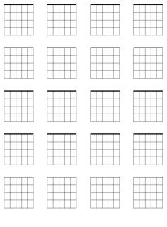 Blank Chord Sheet  Music Board    Guitar Chords