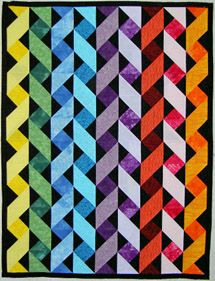 clever block + color strategy -- the block is two quarter-square triangles with one half-square: http://www.how-to-quilt.com/oneblockquilts.php