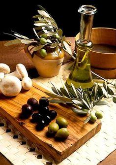 olives & mushrooms