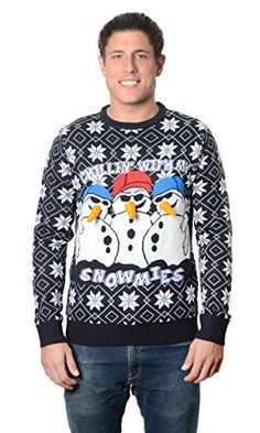 RWB Unisex Chillin With My Snowmies Ugly Christmas Sweater