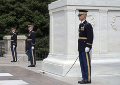 The Medal of Honor Day wreath laying ceremony at Arlington National Cemetery on March 25, 2016. (Meredith Tibbetts/Stars and Stripes)