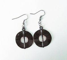 Black Metal Earrings