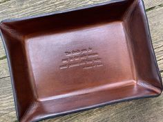 Catholic Gift. St Francis of Assisi Quotation Leather Valet Tray. - St. Francis Quote