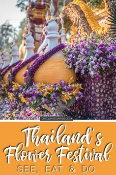 What To Expect At The Annual Chiang Mai Flower Festival | If you are planning your trip to Thailand & deciding on what to do in Thailand, consider visiting this local festival favourite. Read this post before you visit Thailand in February & include this in your Thailand itinerary. These festivals are the core of Thailand culture. Thailand Chiang Mai is the perfect place to see this beautiful festival. Perfect for any Thailand vacation or honeymoon in Thailand #enSquaredAired #Thailand