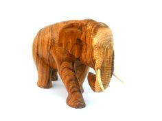 "Wood Carving Elephant Hand Carved Elephant Natural Teak Wood  Elephant Handmade Wooden Elephant Art Home Decor / Gift 7"" x 4.5"" x 4"" by WoodCarvingArt on Etsy"