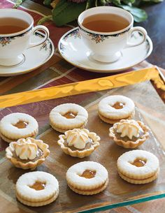 Enjoy the old-fashioned taste of butterscotch in these Butterscotch-Meringue Tartlets.