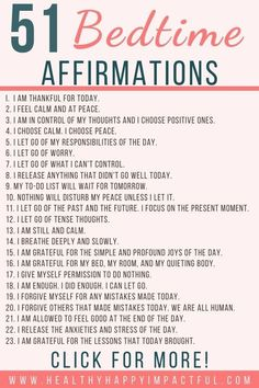 51 Positive Sleep Affirmations for an Astoundingly Restful Night