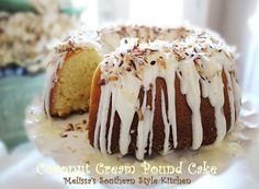 Melissa's Southern Style Kitchen: Coconut Cream Pound Cake with a Vanilla Cream Glaze