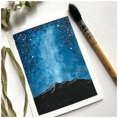 Watercolor Paintings For Beginners, Watercolor Art Lessons, Watercolor Techniques, Painting With Watercolors, Easy Nature Paintings, Watercolor Landscape Tutorial, Easy Paintings For Beginners, Watercolor Paintings Nature, Watercolor Beginner