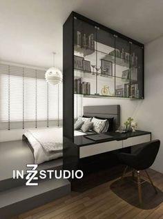 Apartment bedroom design - Ideas apartment loft modern dream homes apartment Bedroom Loft, Home Decor Bedroom, Modern Bedroom, Living Room Decor, Trendy Bedroom, Bedroom Black, Black Bedrooms, Platform Bedroom, Bedroom Wardrobe