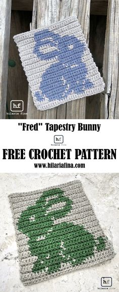 "Tapestry ""Fred"" Bunny - Pattern (English & Spanish ) #crochet #easter #bunny"