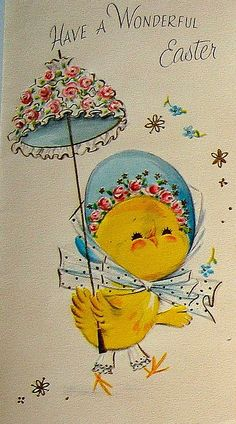 Vintage Easter Greeting Card  Vintage Easter Cards