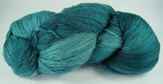 PHX--Peacock 52/2 merino/cashmere/silk by TheGossamerWeb for $45.00