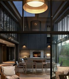pull down shutters? i like the kitchen facing dining facing living all in open space w/hallway & bedrooms on the side